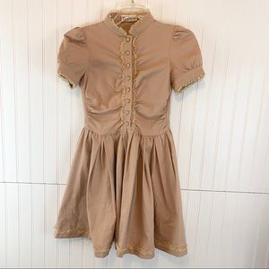 Red Valentino Khaki Dress